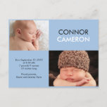 Sweet Simplicity Birth Announcement - Blue