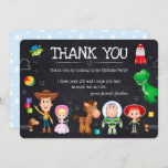 Toy Story Chalkboard Birthday | Thank You Invitation