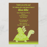 Trendy Turtle Triplets Baby Shower Invitation