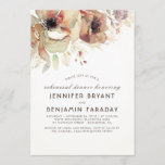 Vintage Floral Watercolors Fall Rehearsal Dinner Invitation