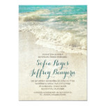 vintage teal sea beach rehearsal dinner invitation