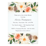 Watercolor Flowers and Feathers Boho Bridal Shower Card