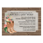 Watercolor Western Boots Bridal Shower Card