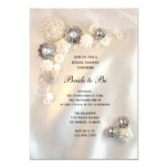 White Pearl Diamond Buttons Bridal Shower Invite