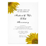 Yellow Sunflower Wedding Anniversary Party Invite